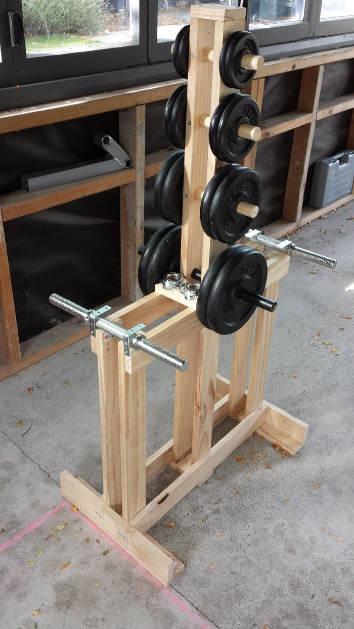 Wooden Dumbbell Rack Wood dumbbell tree/stand. Home Gym