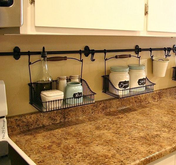 Cute Idea For The Kitchen Helps Eliminate Clutter