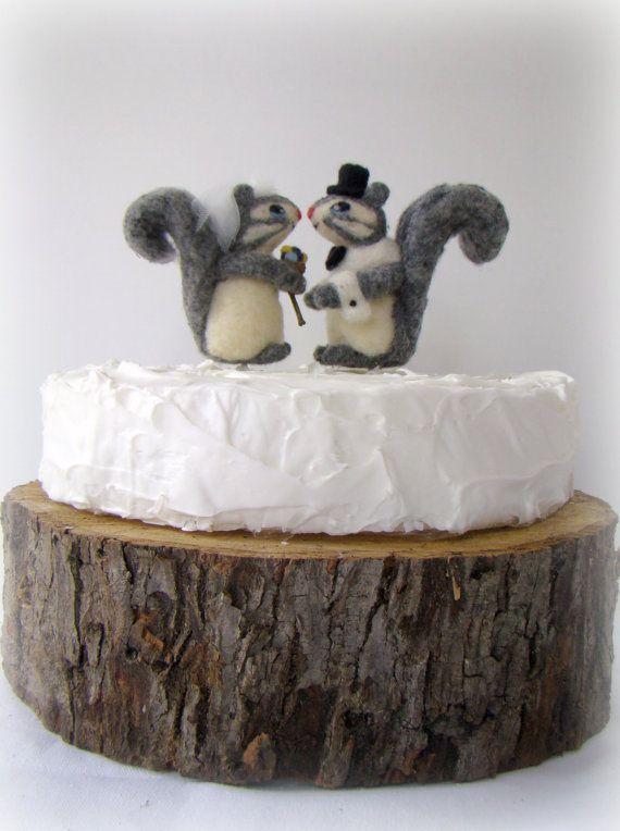 Squirrel Bride And Groom Cake Topper Woodland Wedding