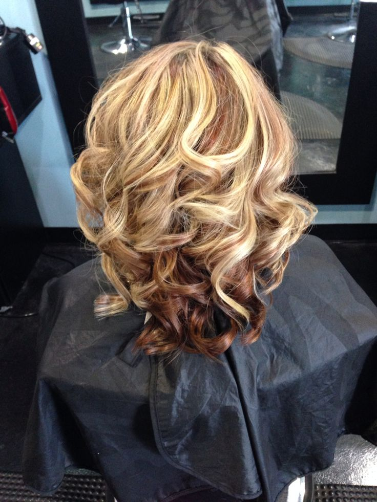 Copper Red Lowlights With Blonde Highlights Fall Color