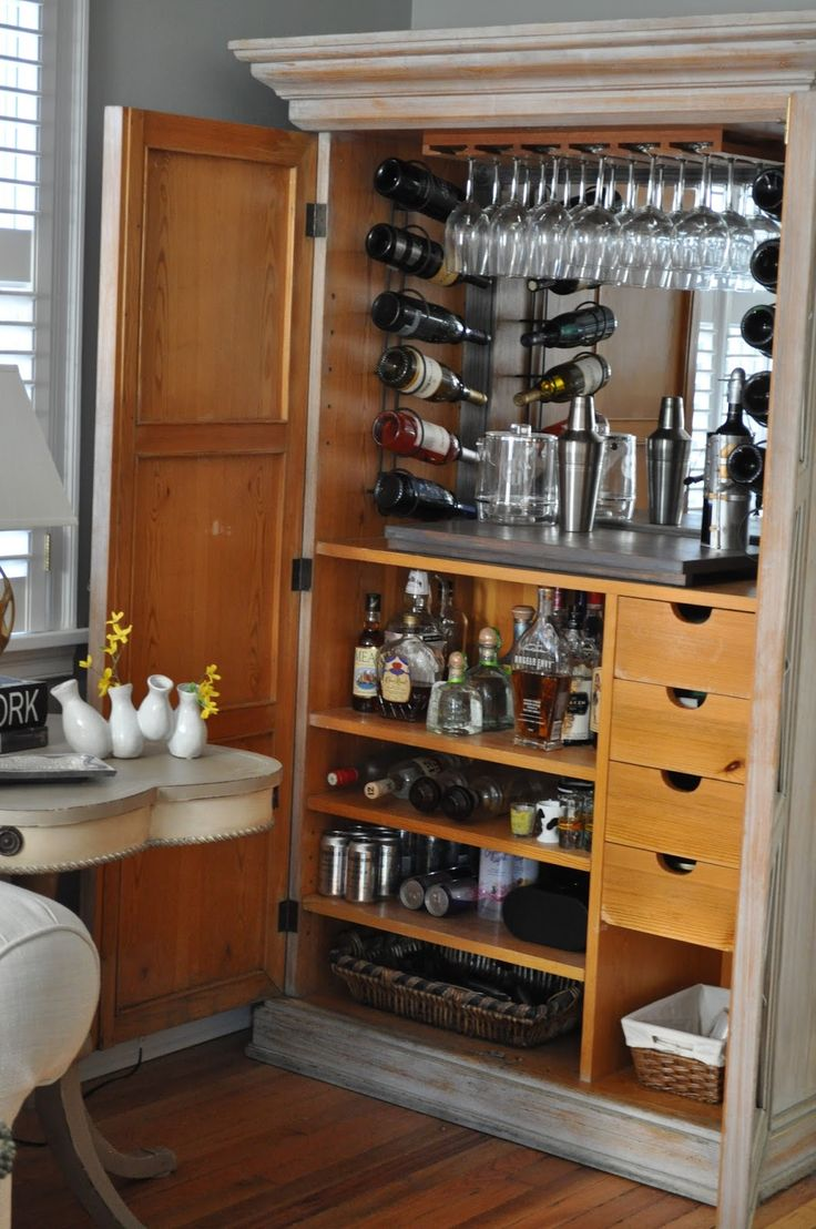1000 Ideas About Armoire Bar On Pinterest Armoires