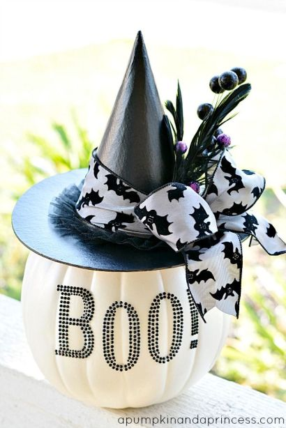 Black and White Pumpkin - love this!: