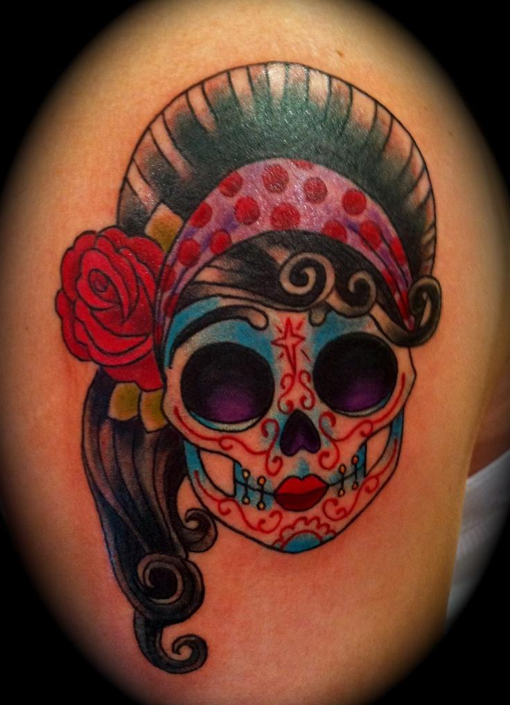 Dia de Los muertos tattoo girl Dia De Los Muertos