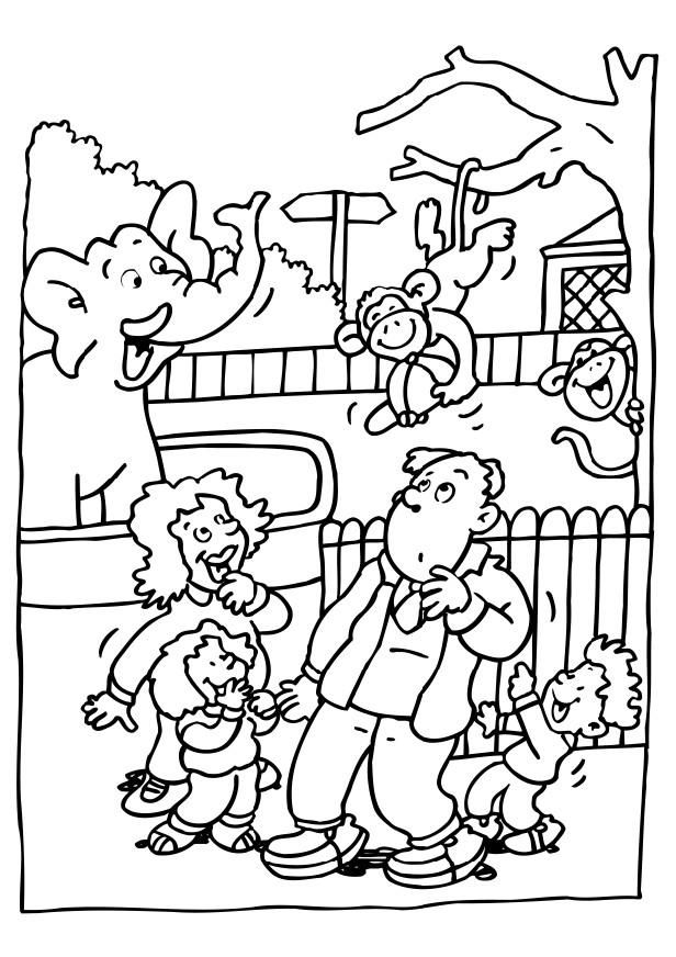 zoo coloring pages for preschoolers coloring page visiting the zoo