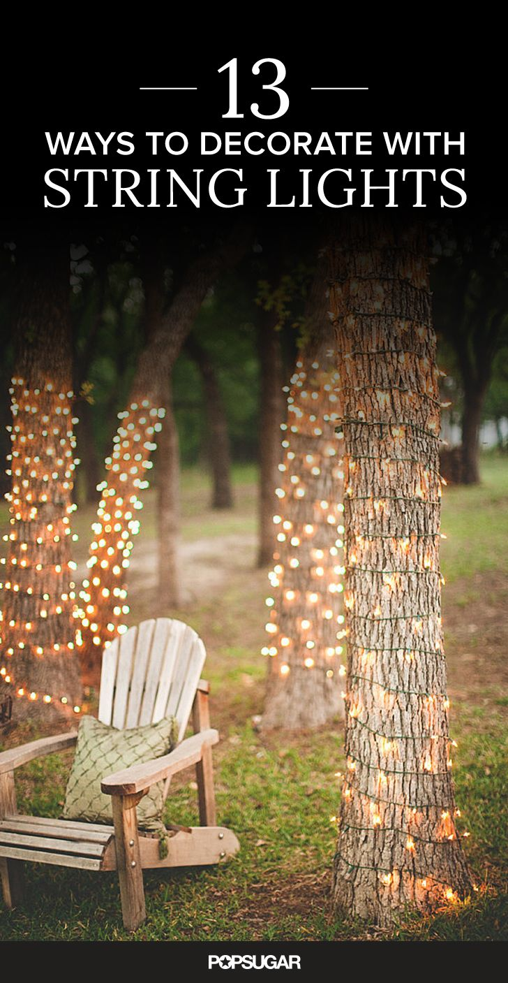 how to string lights in backyard without trees