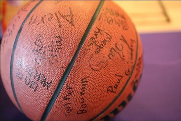 for a basketball themed bir