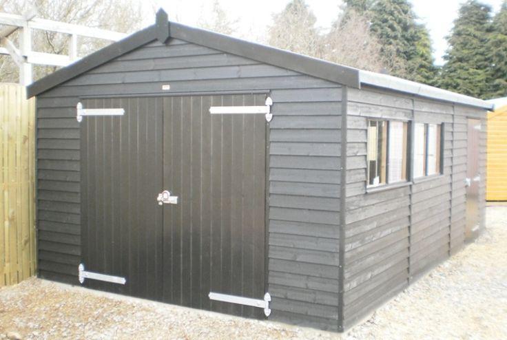 36 X 60m GarageBlack Sikkens Paint System Weatherboard