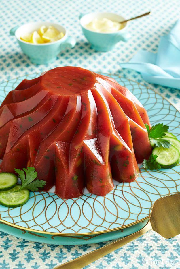 Cucumber-Tomato Aspic | 7 Vintage Jello Recipes That Are Surprisingly Delicious:
