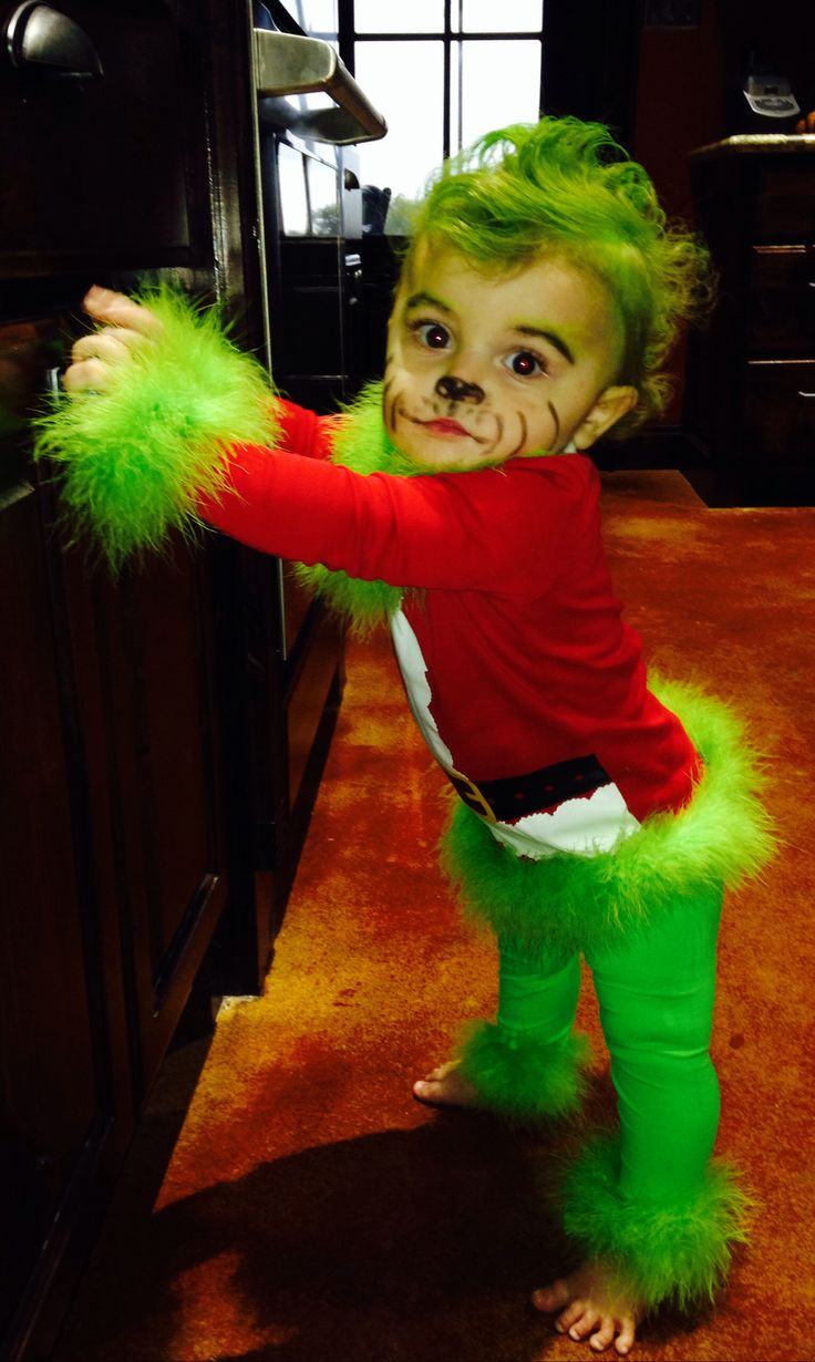 Sweet Baby Grinch Costume Idea happy holidays