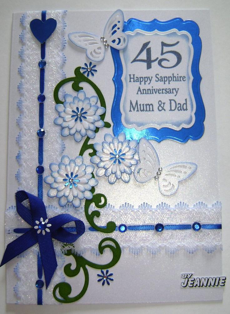 45 years Sapphire Anniversary CUTE CARDS Pinterest