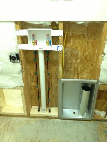 Exposed Laundry Room Washing Machine Amp Recessed Dryer Vent