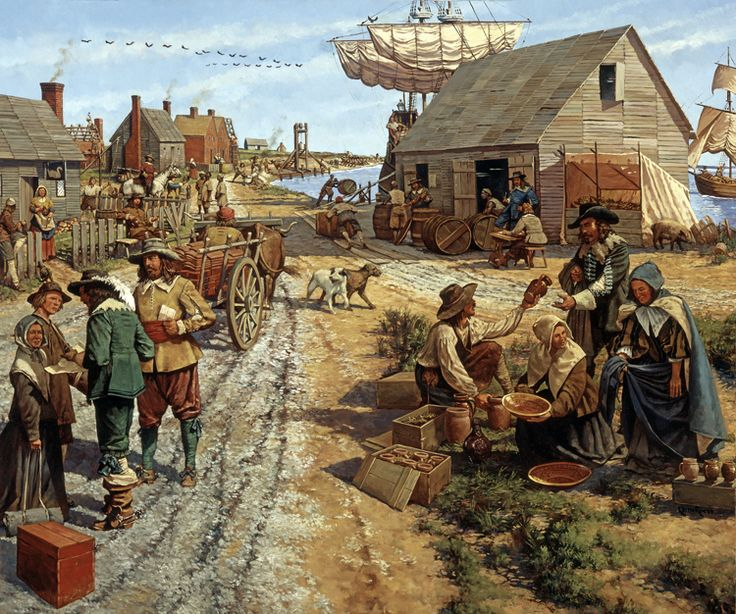 Jamestown, Virginia, 1660s. Keith Rocco. Although