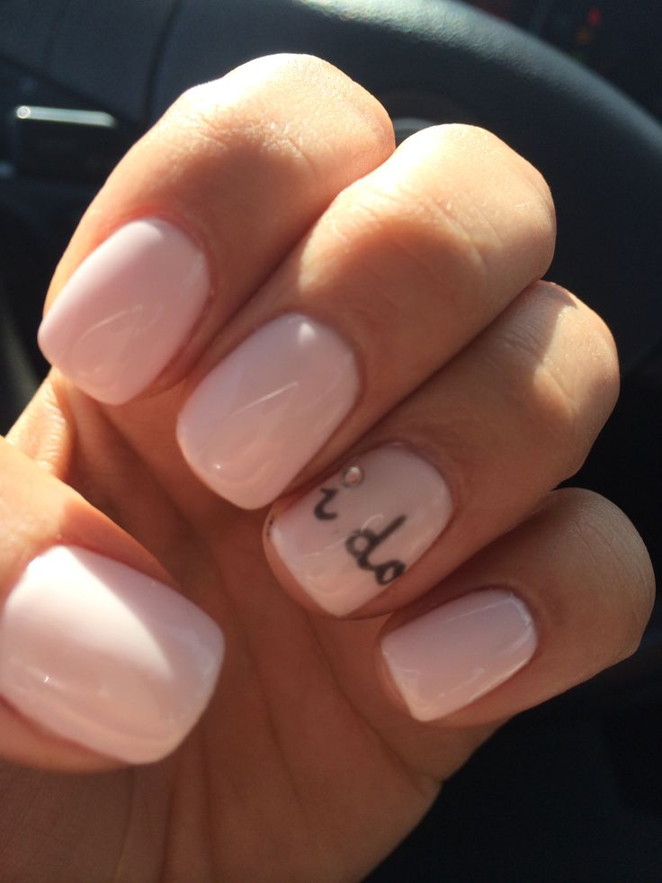 Wedding Nails. I do. Kiss the Bride by O.P.I. Polished Nails Las Vegas!