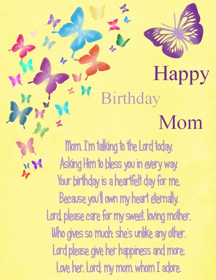 Happy Birthday Mom by Karen Cook sayings Pinterest