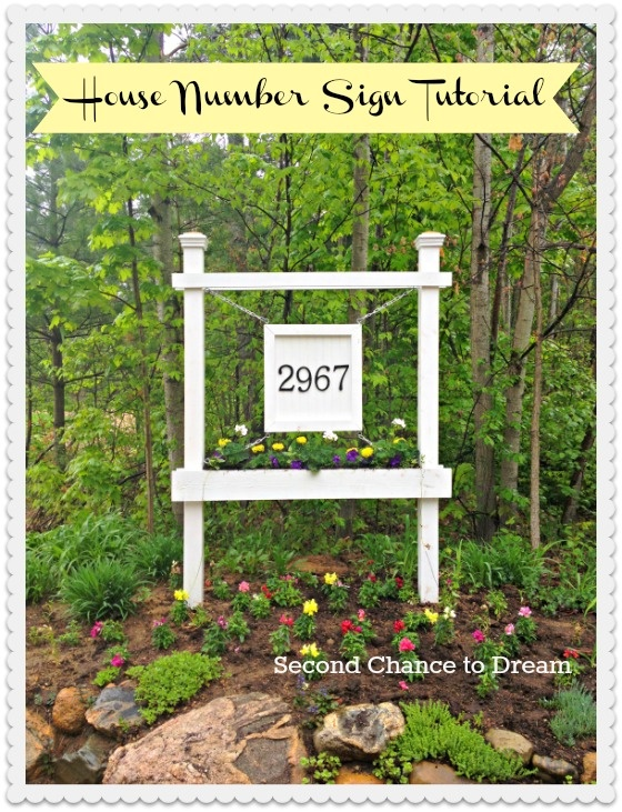 Make your own house number sign outdoor Pinterest