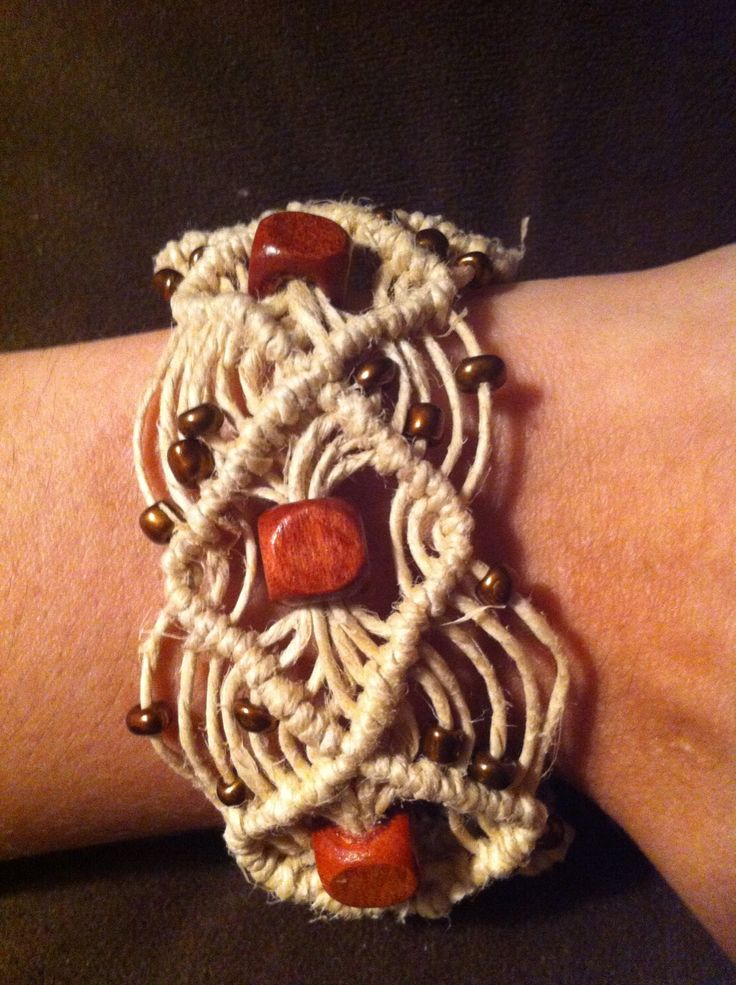 UNIQUE HEMP JEWELRY Diamond Hemp Cuff Bracelet My Art And Jewelry Pinterest How To Braid