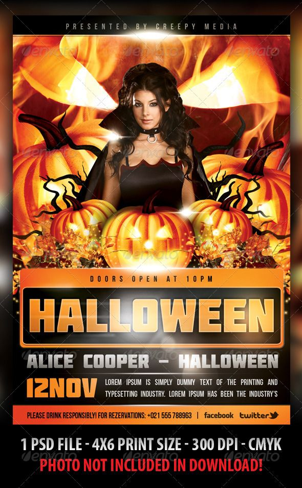 Halloween Flyer Flyer template, Halloween and Concerts