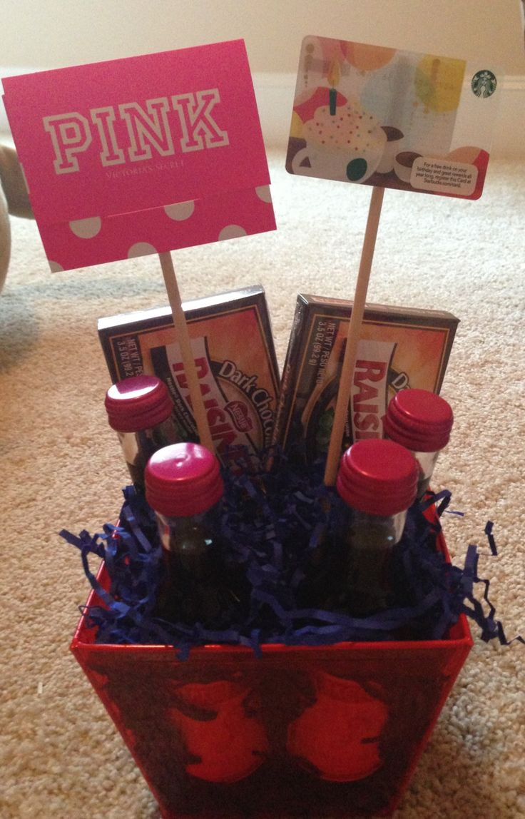 Birthday gift basket for my sweet friend! Can customize to