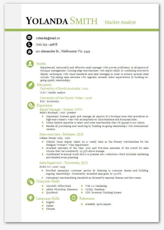 modern cv template templates yosephin words resume modern