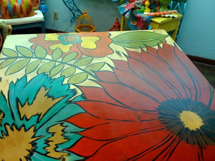 1000 Ideas About Painted Table Tops On Pinterest Chalk