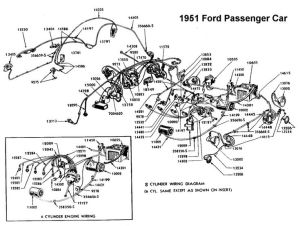 Wiring diagram for 1951 Ford | Wiring | Pinterest | Ford