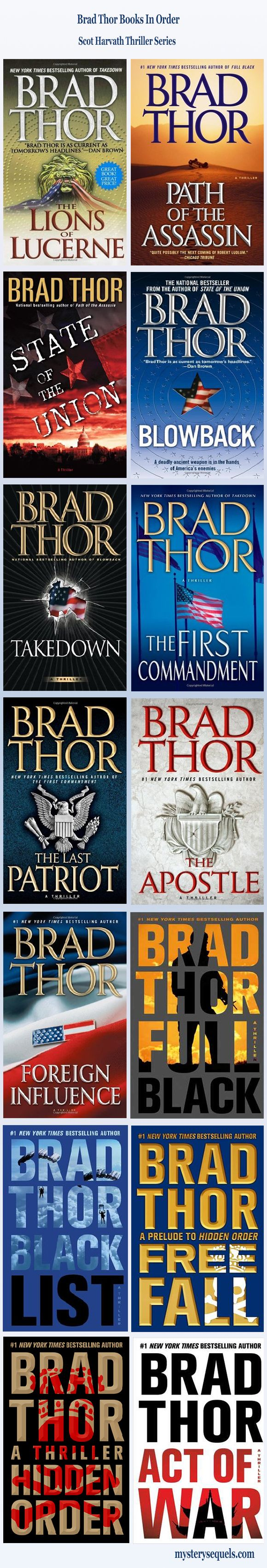 Brad Thor books with his Scot Harvath thriller series