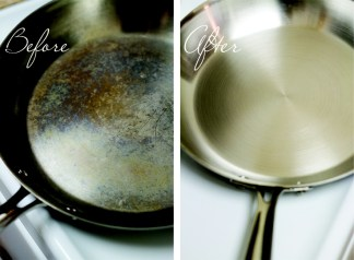 how to fix stainless steel cookware with Barkeepers Friend