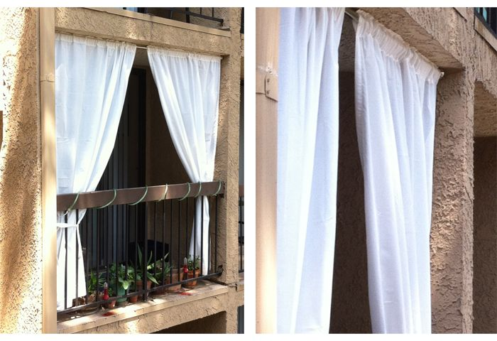 Tension Shower Rod And Curtains For Some Privacy On A