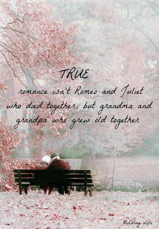 Romance quote via Living Life at