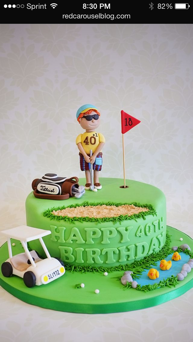17 Best Images About Cake Design For Golf Cakes On