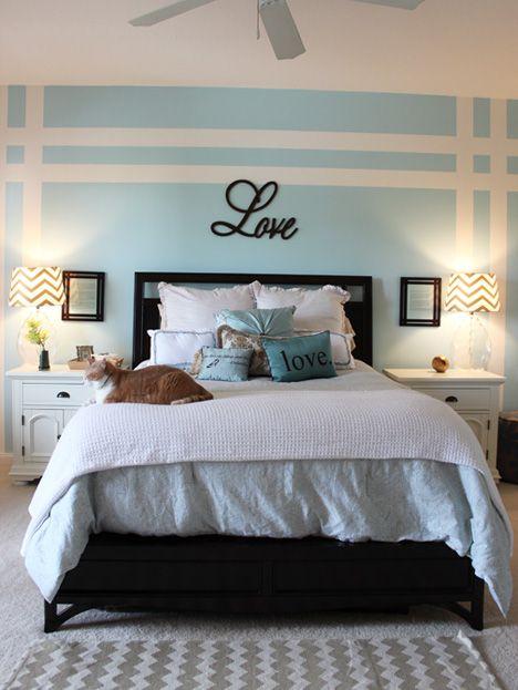 Esta Idea Resalta El Respaldar De La Cama Color Lanco Clear Sky 1p3 4 Accent Wall Bedroom
