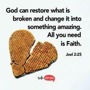 Resultado de imagen de bible verses god can restore