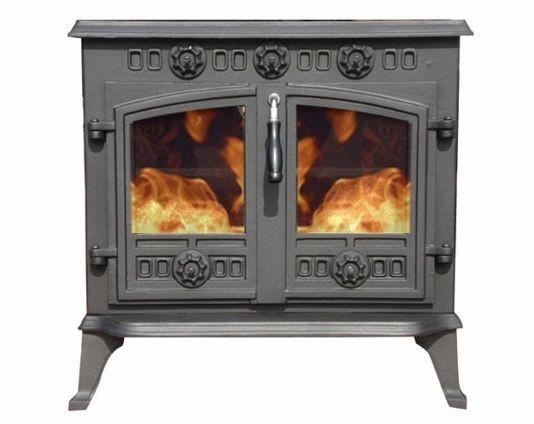 12kw Multifuel Cast Iron Wood Burning Stove Sunrain Ja006