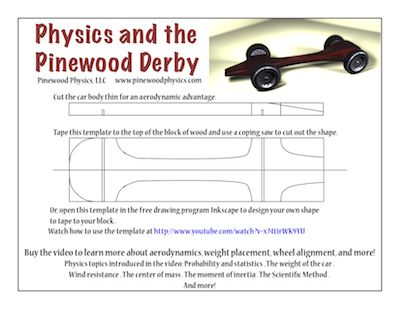 free pinewood derby car design templates.html