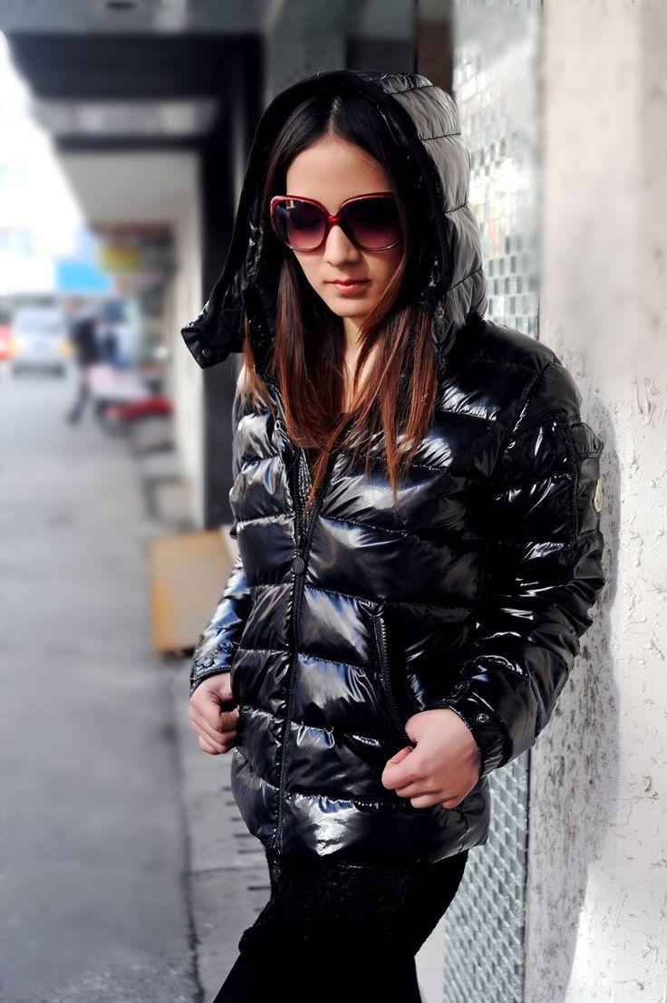 Black Moncler Down Jacket Moncler Pinterest Black