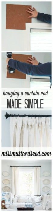 hanging a curtain rod {made simple} – Miss Mustard Seed