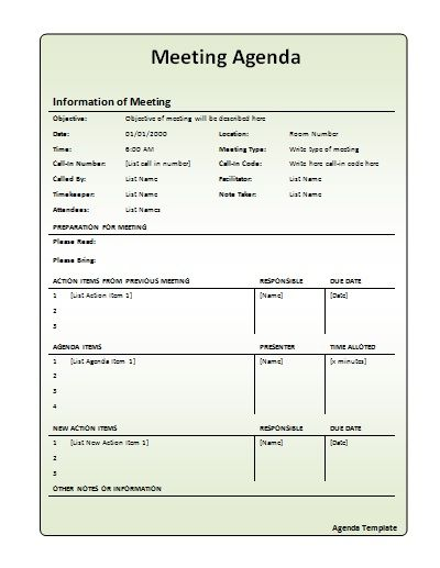Meeting Plan Template free meeting agenda templates smartsheet – Meeting Agenda Template Free