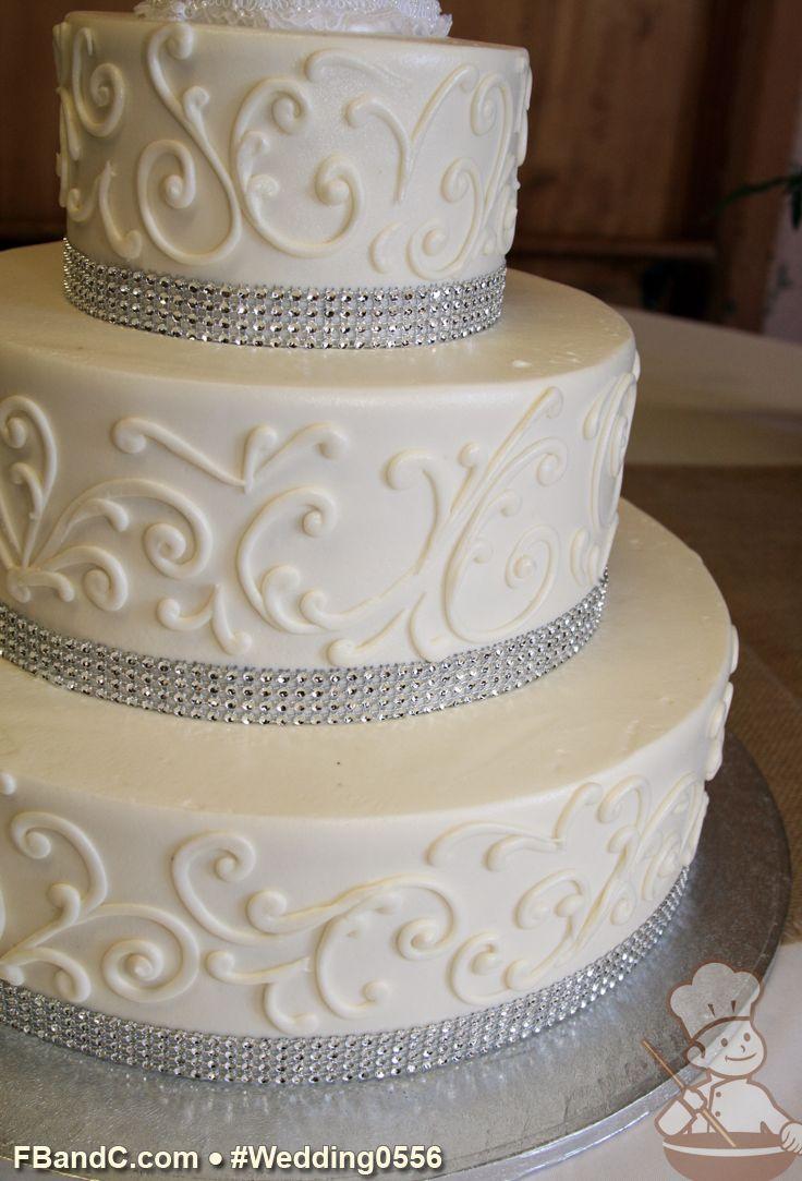 "Design W 0556 Butter Cream Wedding Cake 14""+10""+6"