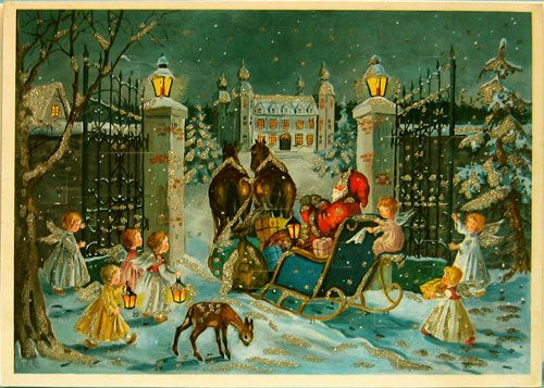 561 Best VINTAGE CHRISTMAS GREETINGS Images On Pinterest