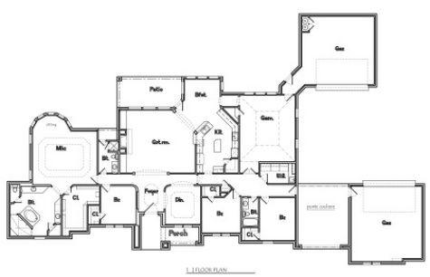 Steve Shuert Residential Design Service 3390 Plan One