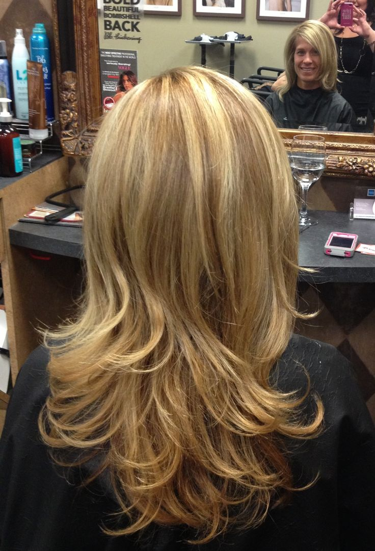Long Layers Blonde And Gold Highlights What I Call Work