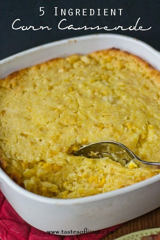 5 Ingredient Corn Casserole I added shredded cheddar, a little taco seasoning. Would have added green chiles but didn't have them.