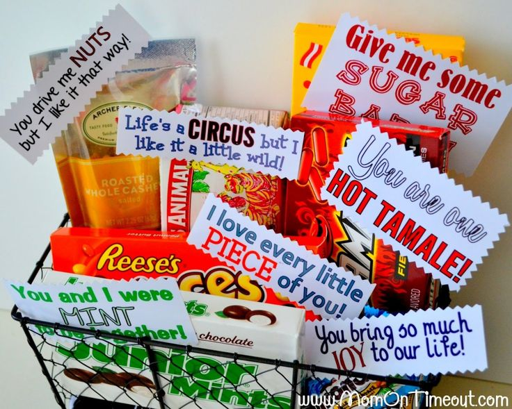 DIY Valentine's Day Gift Baskets for him. So cute and