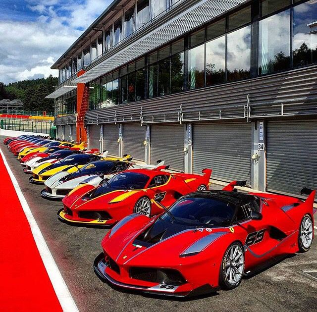 Ferrari Laferrari FXXK line up ftw Horsepower