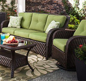 Outdoor Living Furniture And Backyards On Pinterest