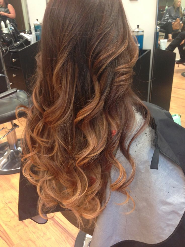 Ombre Hair From Brown To Caramel Hair And Makeup