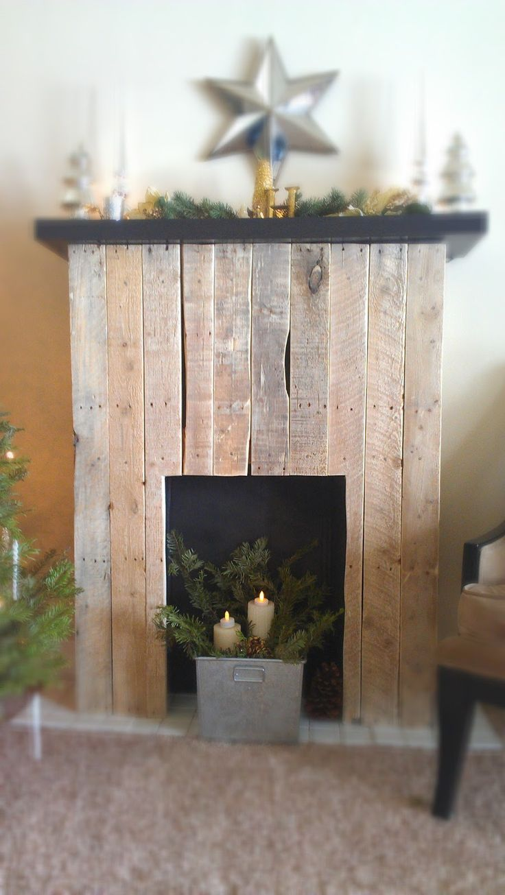 DIY Faux Fireplace Fireplaces, Shabby chic and Rustic