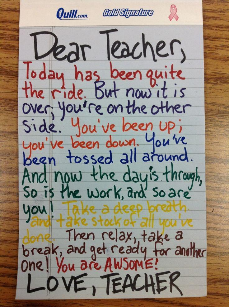 Teachers Day Poems Day's End Poem Dear Teacher/Love