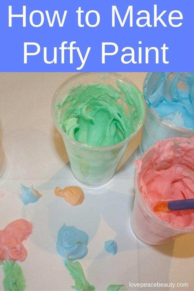 How to make shaving cream puffy paint shaving puffy