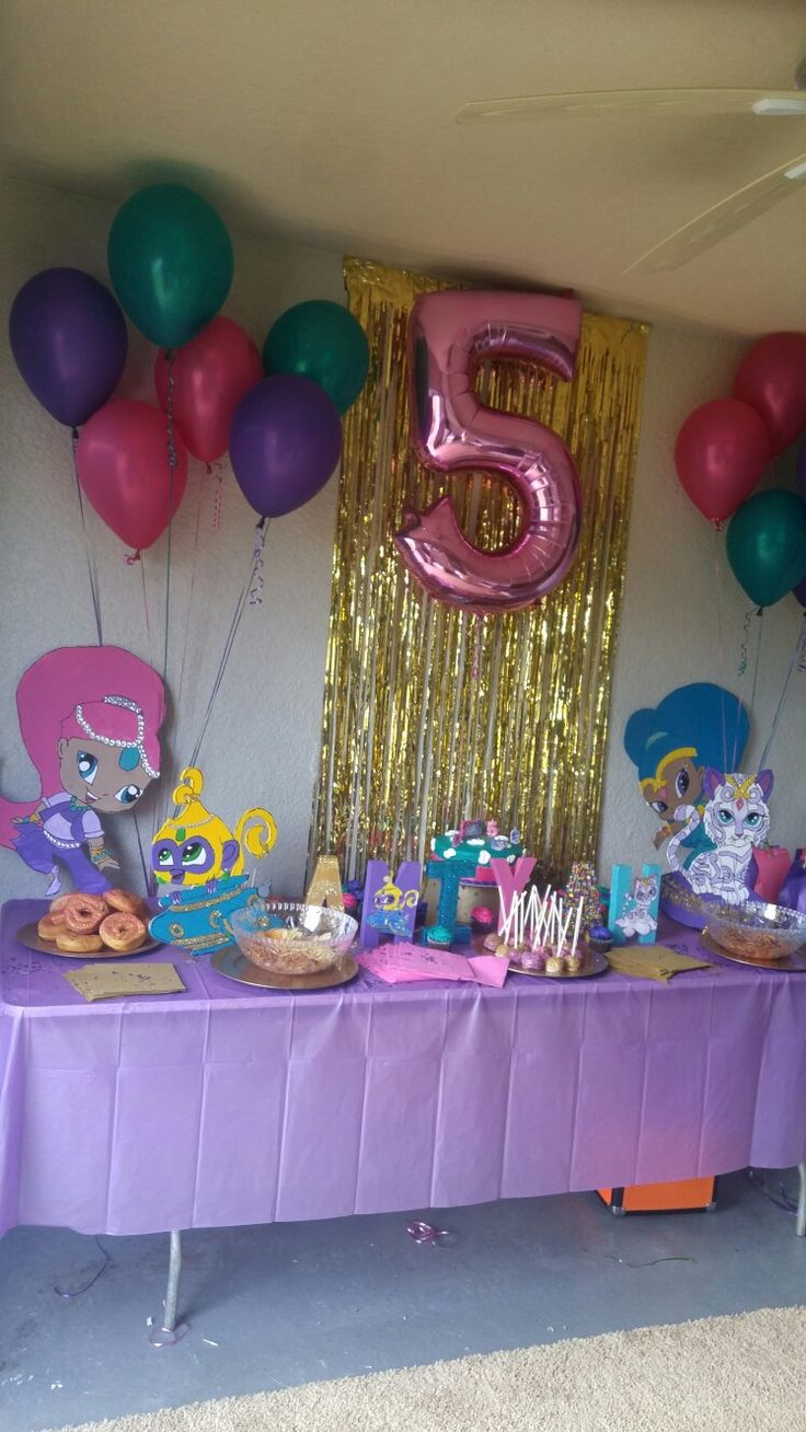 Shimmer and Shine Birthday Party!! Parties Pinterest